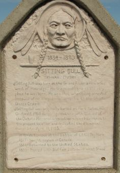 Sitting Bull Monument Crazy Horse South Dakota | Click on the memorial headstone to read the story of Sitting Bull's ...