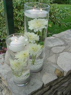 flores sumergidas velas flotantes