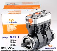 01.04.142 APPLICATION OEM REF. Ø86 mm - 630 CC IVECO / IRIS BUS LK4937 K031852N00 / K001127 504080658 / 500388057 / 504293718