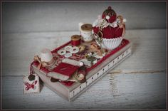 my work :) Shades Of Red, Pin Cushions, Diy And Crafts, Mini, Creations, Gift Wrapping, Etsy, Wool, Holiday Decor