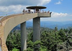 Clingmans Dome--the highest point in TN. Take a drive on the 7-mile road and view where the Appalachian Trail reaches its high point here. On clear days, one can have a 360-view of the Smokies, with glimpses of between 5 & 7 states:)