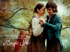 Bright Star movie scene. Ben Whishaw as John Keats and Abbie Cornish as Fanny Brawne.
