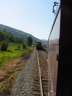 the train ride: the meet out of Sparwood.