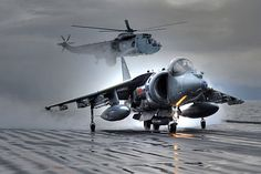 Final flight: A Harrier jump jet - the iconic fighter plane that was instrumental in Britain winning the Falklands War - takes off from the Ark Royal aircraft carrier for the last time Hms Ark Royal, Military Jets, Military Aircraft, Navy Aircraft, Military Weapons, Royal Navy, Us Navy, Fighter Aircraft, Fighter Jets