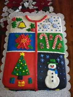 ugly christmas sweater cakes | Ugly sweater cake I made.