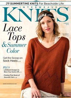Welcome to Interweave Knits Summer This issue is all about coast-to-coast beachside sweaters meet 8 colorwork shawls and socks for a perfect summer by the water. Knitting Books, Crochet Books, Free Knitting, Knitting Projects, Knit Crochet, Crochet Pattern, Knitting Magazine, Crochet Magazine, Socks And Heels