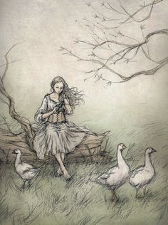 The Goose Girl by ejbeachy.deviantart.com on @DeviantArt