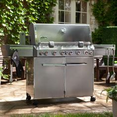 Gas Grill: Weber Summit S-670 Stainless Steel Gas Grill - 7370001
