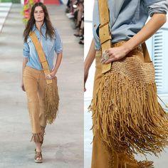 Michael Kors Spring 2019 - Women's fashion and Women's Bag trends Fashion Mode, Runway Fashion, Boho Fashion, Crochet Handbags, Crochet Purses, Crochet Bags, Crochet Shell Stitch, Boho Bags, Knitted Bags