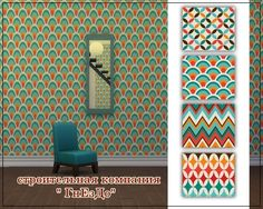 "Sims 3 by Mulena: Seamless wallpaper ""Stick Self"" • Sims 4 Downloads"