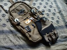 """ru-titley-knives: """"  My version of a Glove Hanger . My lovely wife kindly knocked this up for me to hang my new PIG gloves from my Kifaru Claymore but I'm sure it could be used for several EDC type..."""