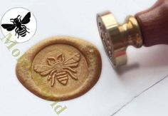 sealing wax bee stamp