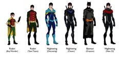 Evolution of Dick Grayson