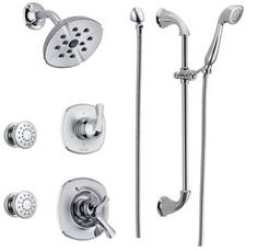 Buy The Delta Chrome Direct. Shop For The Delta Chrome Monitor 17 Series  Dual Function Pressure Balanced Shower System With Integrated Volume  Control, ...
