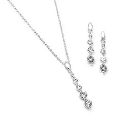 Dangling Crystal Bridesmaid Necklace Set: Mariell's popular bridesmaid and prom necklace jewelry set adds crystal sparkle to your wedding party or prom at a fabulous wholesale price. Prom Necklaces, Prom Jewelry, Bridesmaid Jewelry Sets, Bridal Jewelry Sets, Jewelry Necklaces, Crystal Design, Necklace Set, Wedding Accessories, Earring Set
