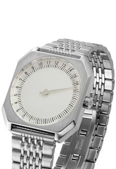 Slow Jo Steel/Silver 24 Hour One Hand Swiss Watch with Free Shipping!