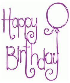 Happy Birthday Chalkboard, Happy Birthday Hand Lettering, Happy Birthday Font, Happy Birthday Drawings, Birthday Card Drawing, Happy Birthday Posters, Happy Birthday Balloons, Birthday Letters, Art Birthday
