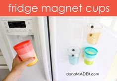 TUTORIAL: fridge magnet cups | MADE