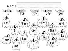 Halloween Literacy Activities (October) (Kindergarten