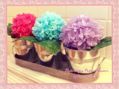 DIY - How to Make Hydrangea Paper Flower - Room, Gift Box, Frame, Ball D...