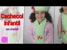 Passo a passo Cachecol Infantil Crochê FOFURA - Professora Simone - YouTube