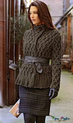 Jacket Pattern for when i learn to knit or crochet this summer maybe :) Ravelry, Handgestrickte Pullover, Wool Shop, Jacket Pattern, Knit Jacket, Sweater Jacket, Belted Cardigan, Sweater Skirt, Open Cardigan