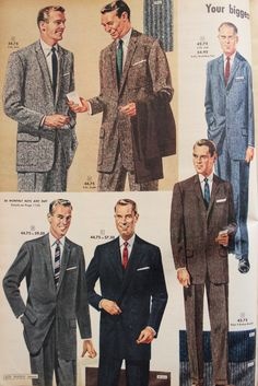 1950s Men S Fashion History For Business Attire