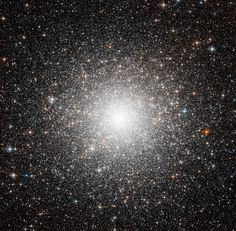 Messier 54 (also known as M54 or NGC 6715) is a globular cluster in the constellation Sagittarius. It is about 87,000 light-years, translating into a true radius of 150 light-years across. It is one of the denser of the globulars.