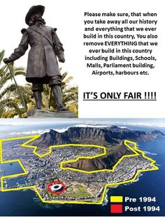 only a warped mind would believe this.you only make your selves look pitiful what ever improvements u claim u made was done off the resources and blood of the people u stole from and victomized lol. Afrikaans, South Africa, Funny Quotes, Knowledge, Van, Money, History, Country, Funny Phrases