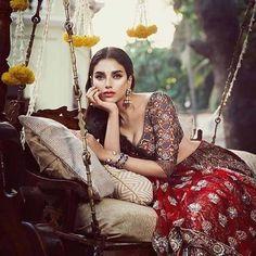 Aditi Rao Hydari for Vogue Wedding Show 2017 - Shot by Signe Vilstrup Indian Photoshoot, Saree Photoshoot, Indian Bridal Fashion, Asian Fashion, Bride Photography, Fashion Photography, Glamour Photo Shoot, Wedding Guest Looks, Vogue Wedding