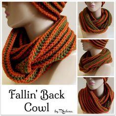 Fallin' Back Cowl  ~ FREE Crochet Pattern