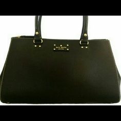 """Kate spade martine purse Great stylish purse. Made of leather. Approx. 15 1/2"""" x 9 1/2"""" x 5"""". Approx. 8"""" double-handle drop. Top magnetic snap closure. Bottom protective feet. Front and back large zip compartments. Interior zip and slip pockets. Fabric lining. Gold tone hardware. kate spade Bags Shoulder Bags"""