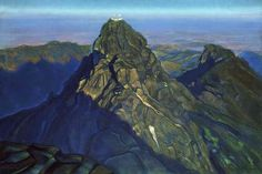 Svetoslav Roerich. Girnar.  1944. Tempera on canvas. 92 x 138.  State Museum of Oriental Arts, Moscow, Russia.