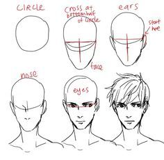 How To Draw Anime Male Head How To Draw An Anime Male Head In 2020 Male Face Drawing How To Draw Hair Guy Drawing