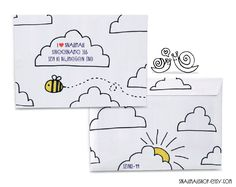 Handmade, drawing envelopes, great for cute snailmail. Create your own set (3, 5, 10 or 15 envelopes)    http://www.etsy.com/shop/snailmailshop