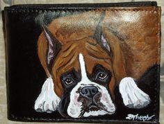 Boxer Dog Custom Painted Leather Men's by daniellesoriginals, $30.95
