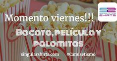 Momento viernes!!! Bocata película y palomitas. #FinDeSemana #VamosQueNosVamos