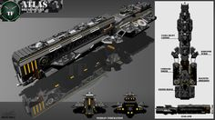 Atlas Class Dreadnought by Calates on deviantART