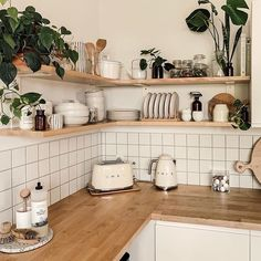 Home Decor Kitchen .Home Decor Kitchen Home Decor Kitchen, Kitchen Interior, Home Kitchens, Kitchen Dining, Kitchen Cabinets, Kitchen Small, Kitchen With Plants, Natural Kitchen, Corner Shelves Kitchen