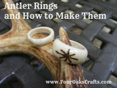 In just 6 steps, you can learn how to make a deer antler ring. Deer antler is a wonderful and durable resource for jewelry and crafts. Deer Antler Jewelry, Deer Antler Crafts, Deer Antler Ring, Antler Art, Deer Antlers, Hunting Crafts, Deer Skulls, Diy Cadeau Noel, Bone Crafts
