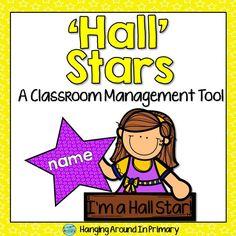 "Manage your hallway behavior with FREE ""Hall Stars!"""