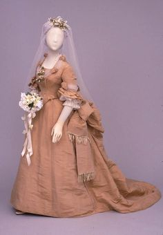 Wedding dress ca. 1874-78 From the Center for Jewish History