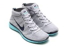 wholesale dealer 11d4b f11f1 Nike Free Flyknit Chukka - Wolf Grey - Midnight Navy - Light Aqua -  SneakerNews.