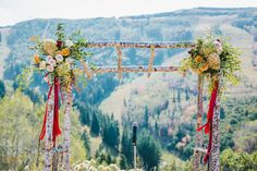 Park City Mountain Resort - Alpine Meadow Wedding. Rustic elegant wedding arch. Wedding Rustic, Elegant Wedding, Fall Wedding, Park City Mountain, Mountain Resort, Alpine Meadow, Rustic Elegance, Real Weddings, Backdrops