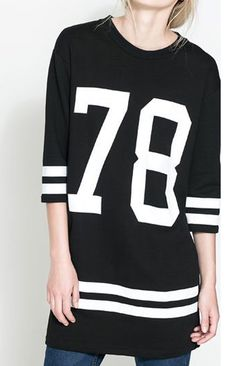 girls also like sports! Black Number Printing Half Sleeve T-shirt http://6ks.com/black-number-printing-half-sleeve-t-shirt_d5738.html