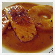 Salmón a la piña - La dieta ALEA ༺✿ƬⱤღ  http://www.pinterest.com/teretegui/✿༻