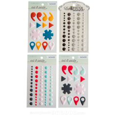 #papercraft #deals from Scrapbook Steals: My Mind's Eye Enamel Dots & Shapes are 50% off! Just $9.99 for a set of 4 sheets