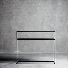 Beautiful console table in black iron and with a shelf under the table top. The table is in timeless design and fit nicely in the Nordic decor. Console Shelf, Iron Console Table, Industrial Design Furniture, Loft Furniture, 2017 Decor, Interiors Magazine, Living Room Inspiration, Canterbury Furniture, Timeless Design