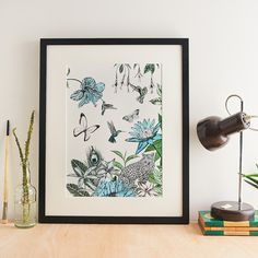 Leopard And Flowers Giclee Art Print, Botanical Art Print Photography Gallery, Creative Photography, Cotton Texture, Photographic Studio, Wildlife Art, Botanical Art, Fine Art Paper, Giclee Print, Gallery Wall