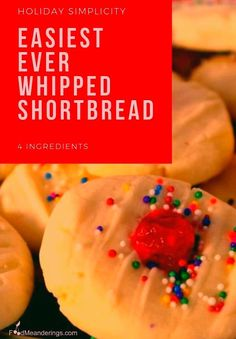 4 Ingredient Whipped Shortbread - Food Meanderings 4 ingredient whipped shortbread cookies are amazing, melt-in-your-mouth, quick and easy! Chocolate Chip Cookies, Chocolate Cookie Recipes, Chocolate Cheesecake, Dump Cake Recipes, Easy Cheesecake Recipes, Fudge, Nutella, 4 Ingredient Cookies, Cookie Recipes For Kids